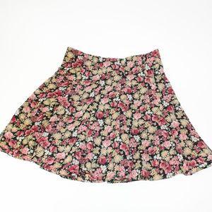 Vintage 90's Rampage Floral Skater Skirt